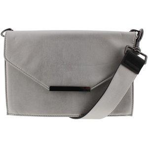 INC Yvonn Silver Metallic Holiday Handbag